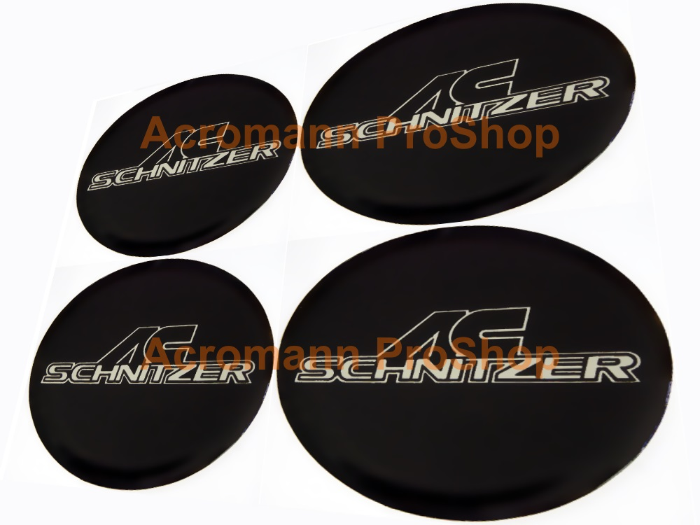 AC Schnitzer 2.2inch Wheel Cap Decal (Style#1) x 4 pcs
